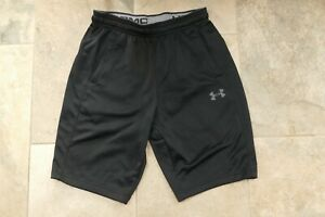 Mens Boys Under Armour Black Coldgear Running Shorts - Size Small