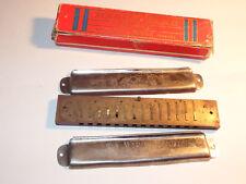 Vintage Hohner 365/28 C Marine Band Harmonica & Box 14 Hole Germany Fix