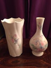 Pair of Aynsley Bone China Vases (Little Sweetheart Collection)