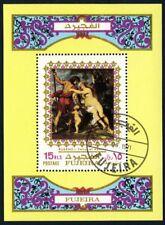 Fujeira 1972 souvenir sheet painting art USED Mi  CV < $5.00 180114028