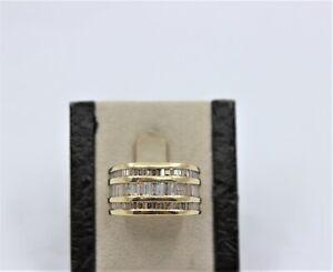14K Yellow Gold Gent's Natural Diamond Wedding Band 3.72TCW Size 10