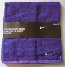 Nike Premier Sport Towel Purple/Silver Soft Cotton Medium 80cm x 40cm New