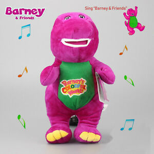 12''Barney The Dinosaur Sing I LOVE YOU Song Purple Soft Plush Doll Kid Toy Gift