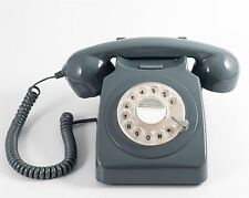 ProTelX GPO 746 Retro Grey Telephone 60's 70's British Rotary Dial Handest Phone