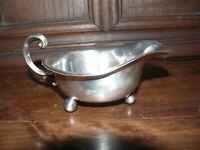 Rarität ca. 100 Jahre alte Saucier Silber oder versilbert Boden gemarkt FLOREAT