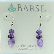 Barse Violetta Beaded Earrings- Mixed Stones- Sterling Silver- NWT