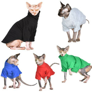 Hairless Cat Sphynx Cat T-shirt Clothes 95%Cotton Top Summer Pullover Breathable