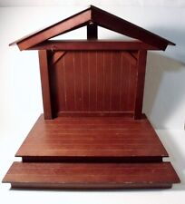Franklin Mint Wooden Creche/Manger for Porcelain Nativity Set