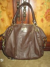 FANTASTIC COACH #15955 BROWN LEATHER MADISON SOPHIA LARGE SATCHEL BAG, LQQK!!