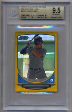 BGS 9.5 w/10 2013 Bowman Chrome Mini GOLD REFRACTOR AARON JUDGE Rookie RC #15/50