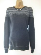 The White Company grey and silver merino woollen jumper size 12