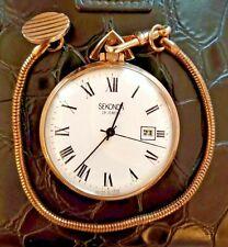 Pocket watch Seconda 19 Jewels, AU 10, Mechanics,With Calenda - made in the USSR