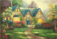 Cross Stitch Chart Pattern Garden & Cottage (1) Needlework Picture Design Craft