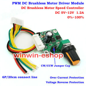 Speed Controller CW CCW Swtich DC 5V-12V 3-Phase DC Brushless Motor Driver Board