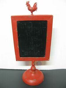 Small Rooster Chalk Board Sign