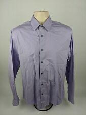 Express 1MX Men's Fitted Purple L/S Button Down Dress Shirt Size M 15-15 1/2