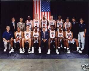 USA 1992 OLYMPIC BASKETBALL DREAM 11x14 TEAM PHOTO #2