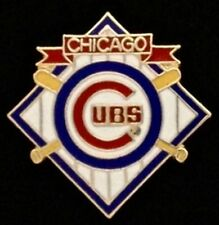 Chicago Cubs Baseball Pin Badge ~ MLB ~ cross bats