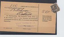 Admiral issue 50c single usage 1927 - 100 circulars Canada