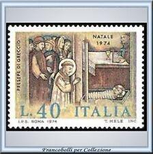1974 Italia Repubblica Natale L. 40 n. 1278 **
