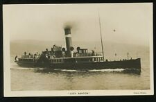 Shipping LUCY ASHTON Paddle Steamer at speed early RP PPC Adamson