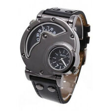 OULM RUSSIAN ARMY MILITARY LEATHER MOVEMENT MEN WATCH-BLACK