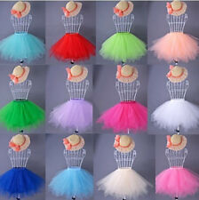 Layers Women Lady Tutu Tulle Skirt Princess Ballet Dance Party Skirts Prom Dress