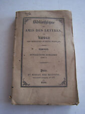 LIVRE ANCIEN POUR COLLECTION , BIBLIOTHEQUE DES AMIS DES LETTRES , VERTOT .1930