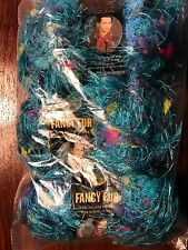 LOT of 3 Lion Brand Fancy Fur #248 Tropical Turquoise Eyelash Yarn Knit Crochet