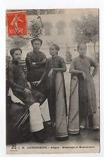 INDOCHINE COCHINCHINE SAIGON  musiciens et musiciennes
