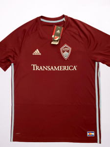 Adidas MLS Colorado Rapids Replica Home Soccer Jersey Men's Size Large CD3627