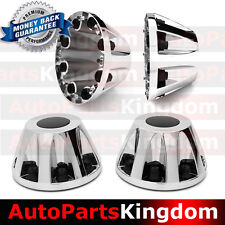 "11-17 Chevy Silverado DUALLY Chrome 17"" 2x REAR Wheel Center Hub Cap Cover NEW"