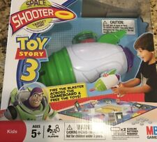 NEW MB Toy Story 3 Space Shooter Target Game Rapid Fire Blaster Safe Foam Discs