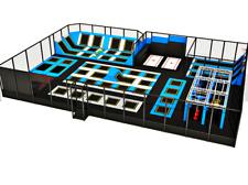 7,000 sqft Commercial Trampoline Park Turnkey Ninja Rock Climbing Gym We Finance