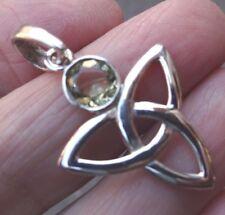 Superb Boho Celtic Knot Sterling Silver & Lemon Quartz Pendant