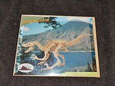 Velociraptor Woodcraft Construction Kit 100% Complete New Factory Sealed