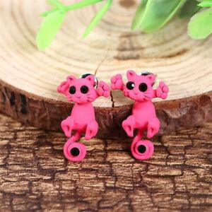1Pc 3D Lovely Women Girls Pearl Kitty Cat Ear Stud Earrings Set Party Jewelry