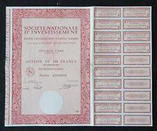 Action 1979 SOCIETE NATIONALE D INVESTISSEMENT PAIS  titre bond share 4