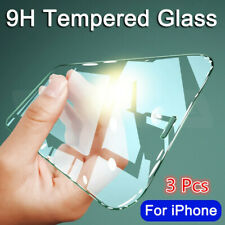 3 PACK 9H Half Clear Phone Screen Protector Tempered Glass Film For Cellphones