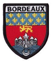 Patche écusson Bordeaux Bordelais ville badge patch thermocollant brodé