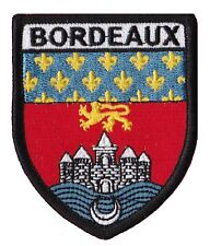 Patche écusson Bordeaux Bordelais ville badge patch thermocollant brodé