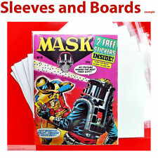 MASK UK British Comic Bags Only Clear Resealable / Tape Size4 A4+ Fleetway x 25