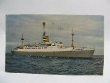 Vintage 1956 Holland American Line SS Maasdam Cruise Ship Postcard