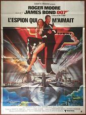 Affiche L'ESPION QUI M'AIMAIT Spy who loved me JAMES BOND Roger Moore 120x160cm