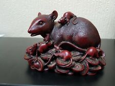 CHINESE RAT WITH 8 YOUNG SCULPTURE