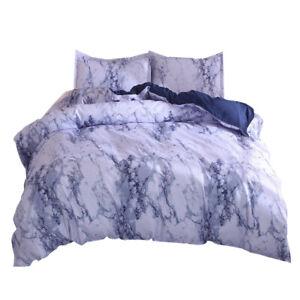Bedding Duvet Cover Set Modern Style Microfiber Quilt Cover w/ Zipper Closure