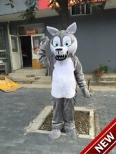 2019 Grey Wolf Mascot Costumes For Adults Halloween Outfit Fancy Dress Suit Gift
