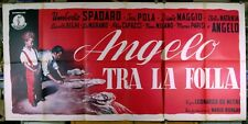 manifesto 3F film ANGELO TRA LA FOLLA Umberto Spadaro Isa Pola Dante Maggio 1950