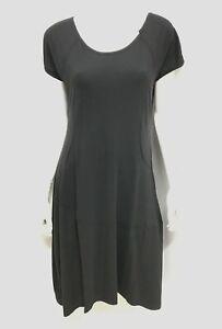 New! LOUNGE THE LABEL Black cotton jersey Dress ~ Size L