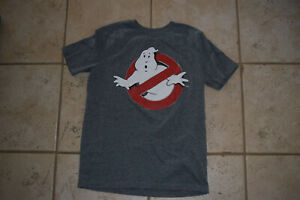 Boy's Old Navy Collectibles Gray Ghostbusters SS T Shirt sz L 10-12